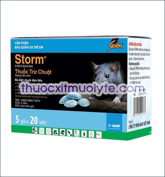 Review thuốc diệt chuột Storm và bán thuốc diệt chuột không trộn mồi